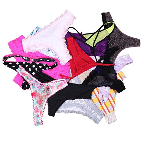 UWOCEKA Sexy Underwear, Kinds of Women T-Back Thong G-String Underpants Sexy Lacy Panties ()