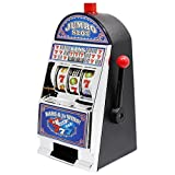 "Slot Machines Large Casino Machine Bank Games Toy With Sound Flashing Lights For Adults 8.8"", White"