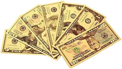 HENGTONGTONGXUN 新USD 1 2 5 10 20 50 100ドルビル・ギフト24Kアメリカン金箔紙幣レプリカ偽紙幣アルバムマネーホームデコレーションG 使いやすい (色 : A)