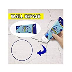 Magic White Latex Paint Wall Repair Crea...