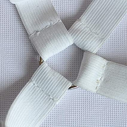 TOOGOO 4 Pince pour Matelas De Coin /élastique Pinces pour Draps /élastiques Couverture De Support Couvertures De Couette R/ésistantes Attaches Fixant des Sangles Antid/érapantes Be-Blanc