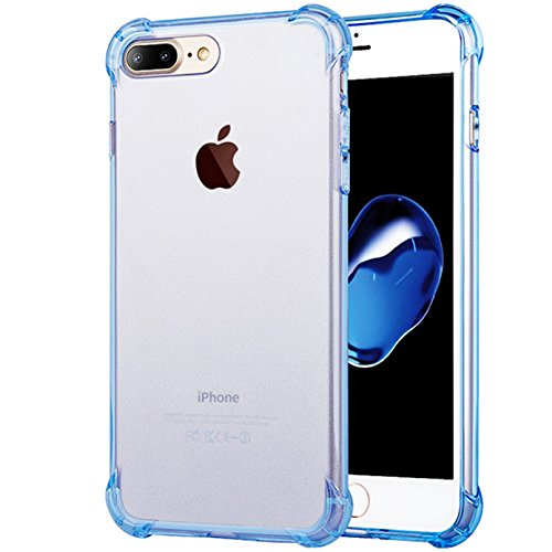 iPhone 8 Plus Case, iBarbe Crystal Clear Shock Absorption Shockproof Slim Fit,Heavy Duty Full Protective Rugged Bumper Soft TPU Cover Case for iPhone 8 (Awareness Iphone 4 Covers)