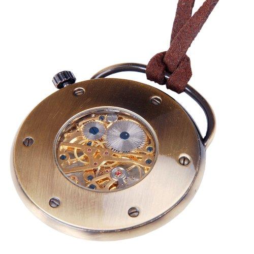 2c2c0040c ... Mens-Skeleton-Pocket-Watch-Quality-Mechanical-Movement-Hand- ...