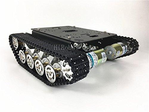 Shock Absorber Tank car TS100,Aluminum alloy Chassis/Frame,12V High torque motor,For DIY, tank model,robot education,demo (150 rpm 12V (Torque Absorber)