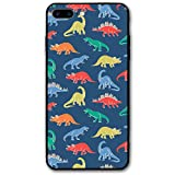 Happy Index Dinosaur Patterns iPhone 7 Plus Case/iPhone 8 Plus Case Soft TPU Shell Shock-Absorption Bumper Anti-Scratch Case Enhanced Grip Protective Defender Cover