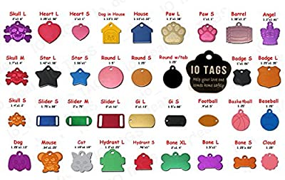 Aluminum Pet ID Tag Free Custom Engraved Dog Cat Personalized Luggage Tag by io tags