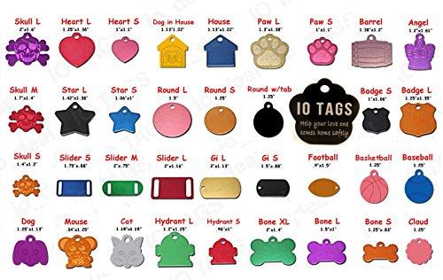 Custom Tags Dog Id - Aluminum Pet ID Tag Free Custom Engraved Dog Cat Personalized Luggage Tag