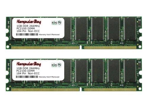 Pc 2100 Ddr266 Computer Memory (Komputerbay 2GB (2x1GB) DDR DIMM (184 PIN) 266Mhz DDR266 PC2100 FOR eMachines T3306 2 GB (2x1GB))