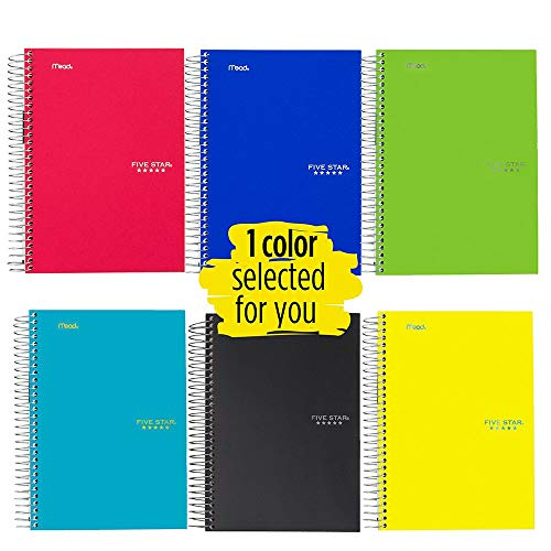 (Five Star Spiral Notebook, 1 Subject, College Ruled Paper, 100 Sheets, 7