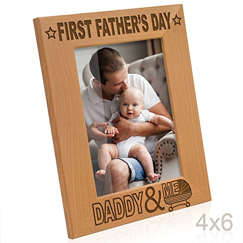 Kate Posh - First Father's Day with Daddy & Me Picture Frame (4x6-Vertical)