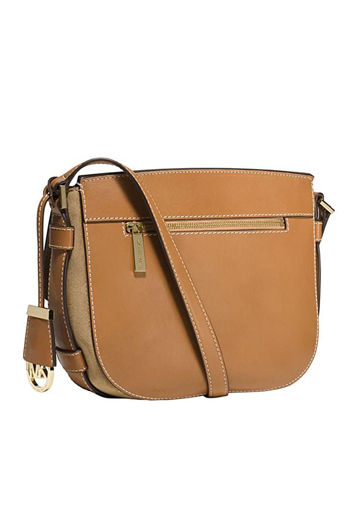 c204619ca331 MICHAEL Michael Kors Womens Romy Suede Messenger Handbag (Beige)  Handbags   Amazon.com