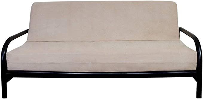 OctoRose BEIGE Full Size 3 Side Zipper Quality Bonded Micro Suede Futon Mattress Cover