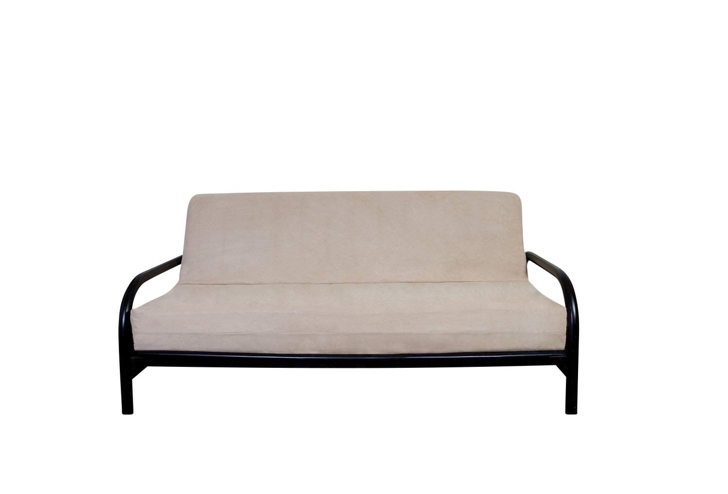 OctoRose BEIGE Full Size 3 Side Zipper Quality Bonded Micro Suede Futon Mattress Cover by OctoRose (Image #1)