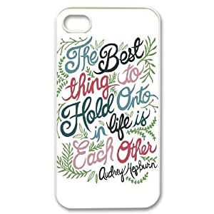 Audrey Hepburn Quote Unique Design Cover Case with Hard Shell Protection for Iphone 4,4S Case lxa#904629