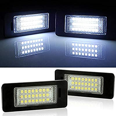 2pc 24 LED Error Free License Plate Light For BMW E90 E92 E93 M3 E70 E60 E39 F30 (Reference Part NO: 63267165646/63267193293): Automotive