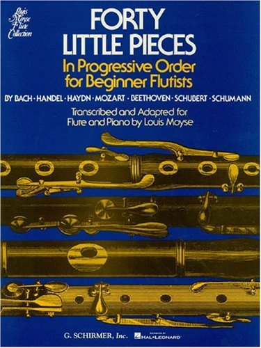 40 Little Pieces in Progressive Order (Louis Moyse Flute Collection) (Flute For Beginners)