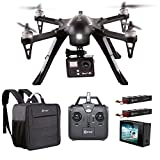 HOLIDAY SPECIAL! Contixo F17+ RC Quadcopter Photography Drone 4K Ultra HD Camera 16MP, 2 High Capacity Batteries, Supports GoPro Hero Cameras, Water Resistant Back Bag - Best Gift For Christmas