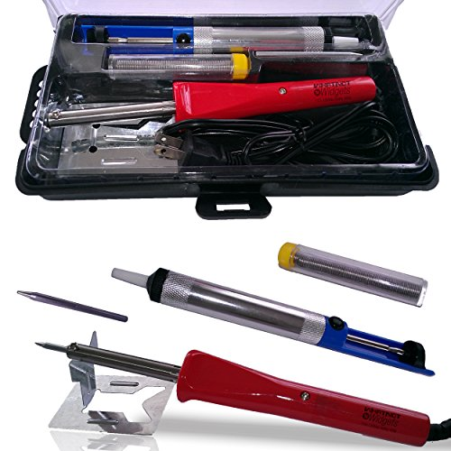 Whatnot Widgets 12 Piece Electronic Soldering Iron Kit with Adjustable Temperature 110V Electric 30-50 Watt Iron
