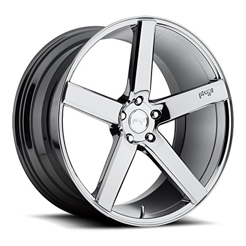 Niche Milan 20x8.5 Chrome Wheel / Rim 5x120 with a 35mm Offset and a 72.6 Hub Bore. Partnumber M132208521+35
