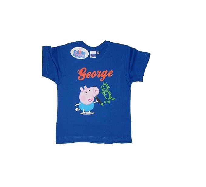 Peppa Pig Maglietta a Maniche Corta per Ragazzi George Pig