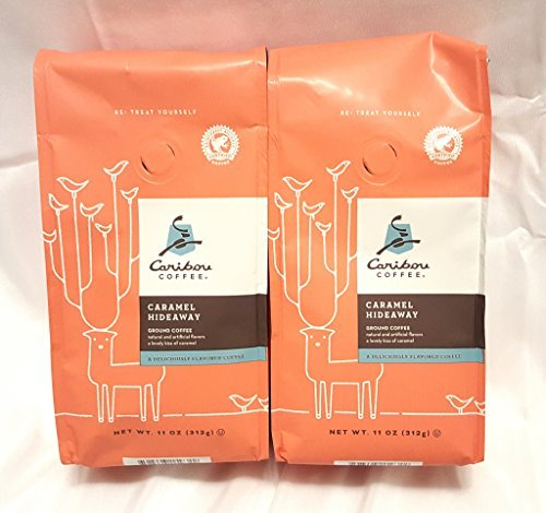 - Caribou Coffee Caramel Hidaway Flavored Ground Coffee- 2 Pack
