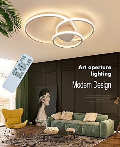 Luz de techo LED regulable moderna, lámpara de techo de diseño de anillo con control remoto, lámpara de techo de…