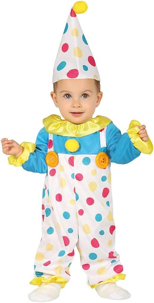 Colorido disfraz de payaso para bebé - Blanco 6 - 12 meses, 82 ...