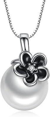 collier argent noir et blanc