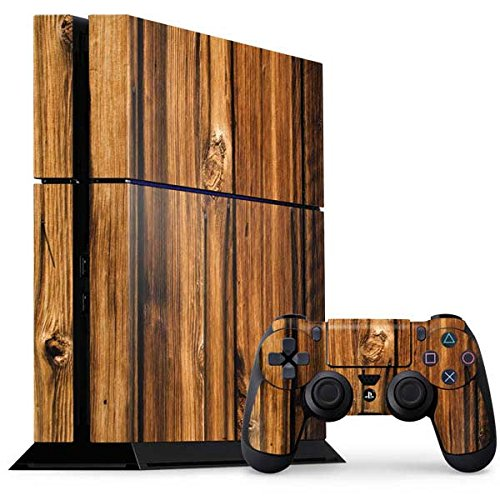 Wood PS4 Console and Controller Bundle Skin - Glazed Wood Grain | Skinit Patterns & Textures Skin