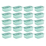 Sterilite 15 Quart Fresh Scent Stackable Shoe Storage Box Container (18 Pack) (12)