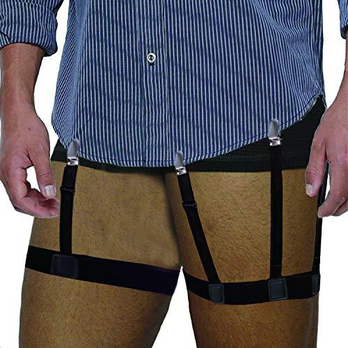 Shirt Stays for Men Adjustable Shirt Garter Suspender Belts for Police -