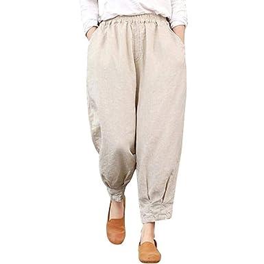 Pantalón Joggers para Mujer Pantalón Pitillo Chino Suelto ...