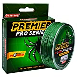 Proberos Braided Fishing Line PE Fiber Fish Line Ultra High Molecular Weight Super Powerful Lines 4 Strands 100M/110YD 6LB-100LB Spool High Sensitivity Zero Stretch Strong Abrasion (50lb, Green)