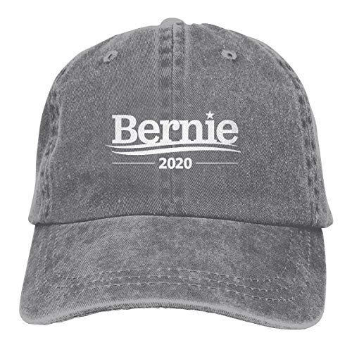 (Bernie 2020 Vintage Washed Dyed Dad Hat Adjustable Baseball Cap Gray)
