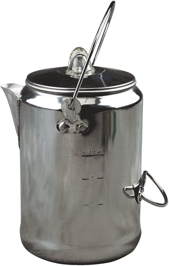 Image of the stainless-steel coffee kettle from Coleman.