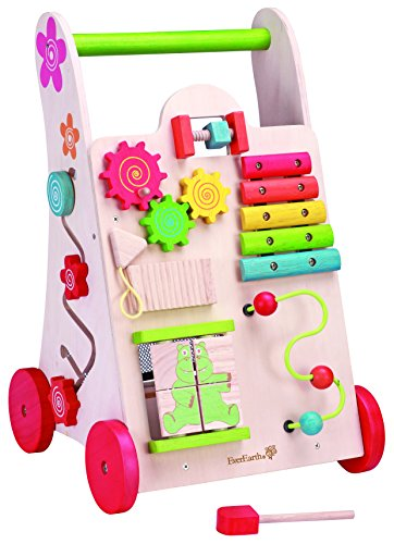 (EverEarth Activity Walker. Toddler Learn-to-Walk Cart, Shape Sorter, Bead Maze, Xylophone & Gears)