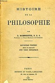 Histoire de la philosophie par Désiré  Barbedette