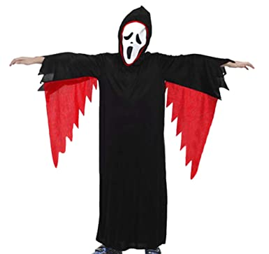 Conquro Capa de Disfraz de Fantasma de Manga Larga para niños + ...