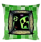 Soft Cartoon Cushion Toy 24h Minecraft Creeper Car Neck Rest Pillow LZT-F (006(45*45cm))