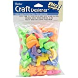 Fun Shapes Pony Beads 4oz-Sea Life - Turtle, Dolphin, Seal & Whale (2-Pack)