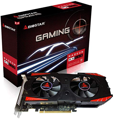 (Biostar OC Gaming Radeon RX 560 4GB GDDR5 128-Bit DirectX 12 PCI Express 3.0 x16, DVI-D Dual Link, HDMI, DisplayPort and Vortex Dual Cooling Fan)