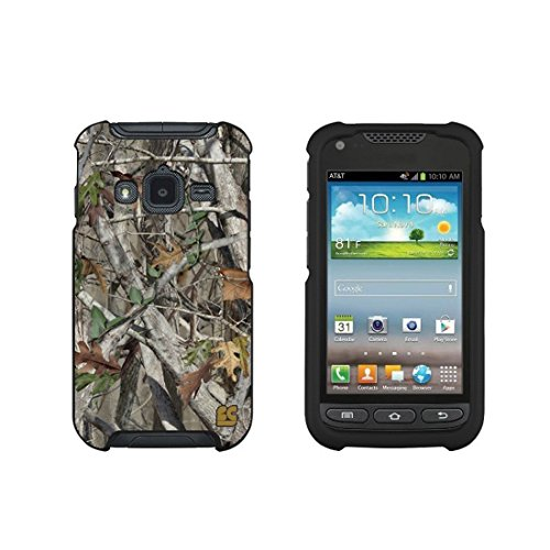 Protective Case For Samsung Galaxy Rugby Pro i547 Slim Two Piece Snap On Case Hard Plastic Rubberize Feel Autumn Camouflage (Galaxy Case Samsung Rugby)