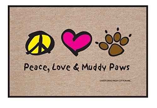 HIGH COTTON Peace Love Paws Indoor/Outdoor - High Mat Door Cotton
