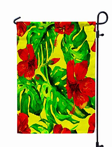 Shorping Welcome Garden Flag, 12x18Inch Halloween Pumpkins Watercolor Drawing Autumn Harvest Pattern for Holiday and Seasonal Double-Sided Printing Yards -