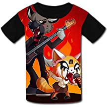 Robadyme Metal Duo T-Shirt Short Sleeve Kids Tee Shirt Black Cute 2018 for Girls Boys