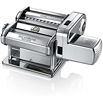 Marcato Atlas Pasta Machine, Stainless Steel, Silver, Made in Italy