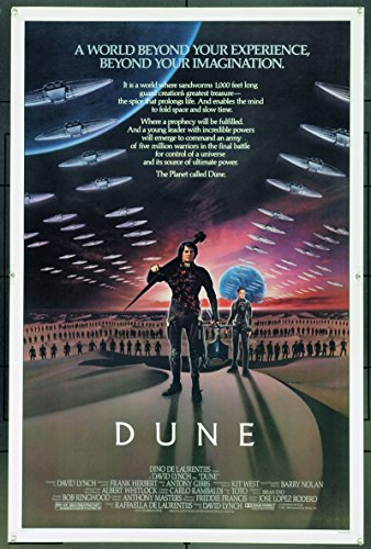 Dune (1984) Original Advance or Teaser One-Sheet Movie Poster Never Folded 27×41 KYLE MACLACHLAN VIRGINIA MADSEN JURGEN PROCHNOW Film directed by DAVID LYNCH