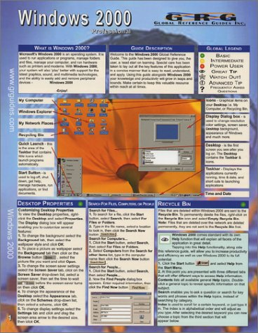 Download Windows 2000 Professional: Quick Reference Guide PDF