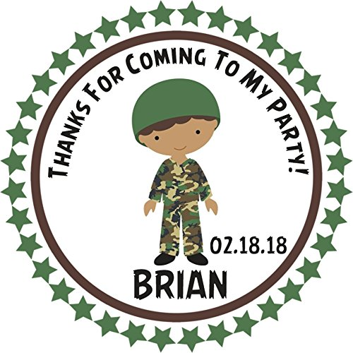 Army Birthday Party Sticker Favors