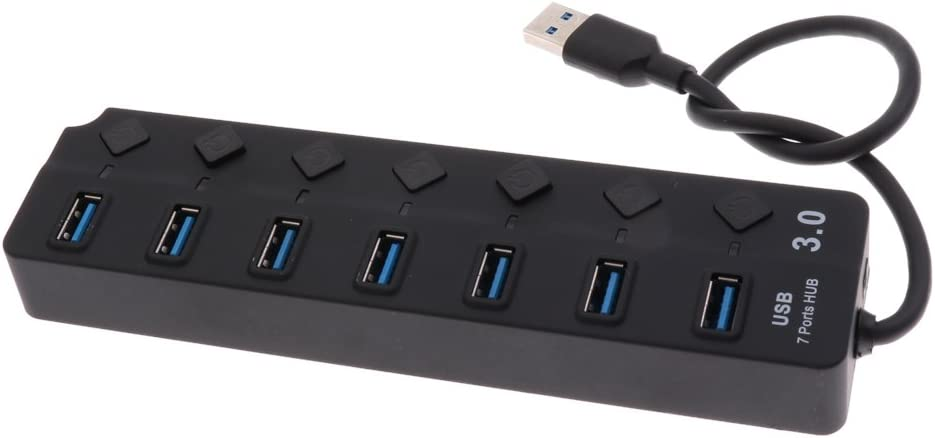 Small USB Power Adapter Hub Charging Station USB 3.0 Plugs with 7 USB Slots